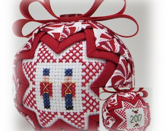 Dated Ornament - Quilted Ornament - Toy Soldiers -Christmas Ornament