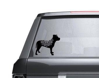 Pitbull Mandala Vinyl Decal Sticker - Laptop Sticker - Car Sticker - Window Decal - Pitty Parent