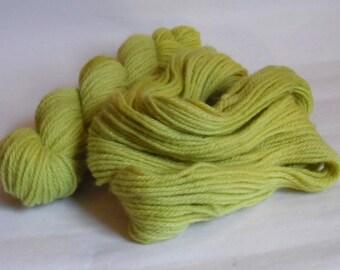 Chartreuse Green Aran Wool 50g