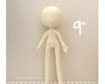 Amigurumi Doll Pattern Crochet Anime Female Girl Plush