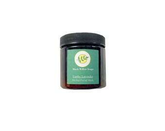 Earthy Lavender Herbal Clay Mask, Face Mask, Facial Mask, Mud Mask, Detox Mask, Natural Face Mask, Acne Mask, Mask, Skin Care, Natural Skin