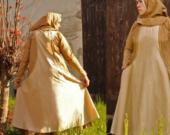 MADE TO ORDER medieval peasant woman costume renaissance larp middleages medieval commoner clothing for woman sca