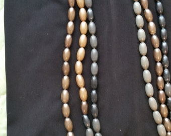 1950sCollectible Pop Beads 8 Feet in Gray, Gold, Taupe and Black
