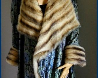Vintage Opera Coat Evening Coat Fur Lined Brocade