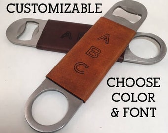 Custom Bottle Opener, Personalized Flat Speed Bartender Bottle Opener Stainless Steel