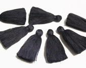 Very Dark Blue Cotton Tassels, Tassels for Jewelry, 2'' Cotton Tassels, Boho Jewelry Supplies (TS22)