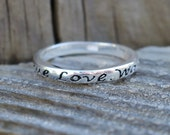Vintage 925 Sterling Silver True Love Waits Ring