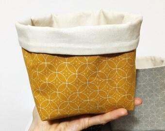 Storage basket mustard yellow - fabric storage basket - fabric storage bin - nursery storage - scandi style - gift for organised mum