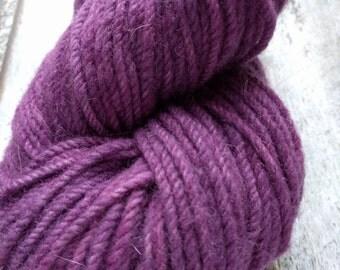 Blackberry- KR Rustic: Aran hand dyed yarn 112 g/4 oz 129 meters/141 yards
