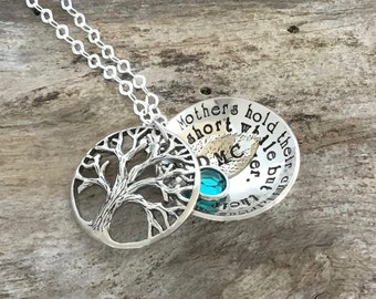 Christmas gift for Family   Sterling Silver Tree of Life Necklace   Locket Necklace   Family Tree Pendant   Mother Necklace