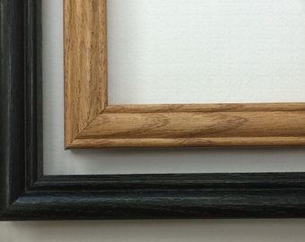 5x7 Wood Picture Frame, Black Picture Frame, Oak Photo Frame, Noire Picture Frame
