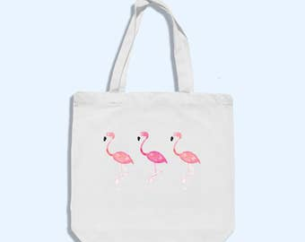 summer flamingo tote bag - summer beach bag - flamingo tote bag  - womens beach bag - flamingo bag - summer beach bag - cotton beach bag