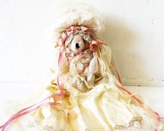 Vintage Bride Teddy Bear Stuffed Animal