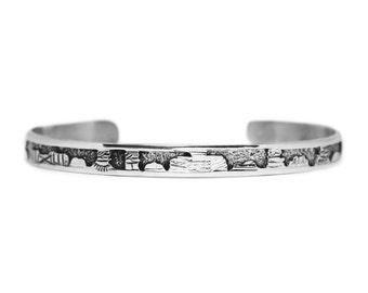 Silver Navajo Storyteller Bracelet - Hogan