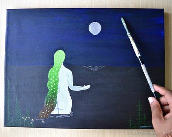 Drowning • 12x16 Original Painting