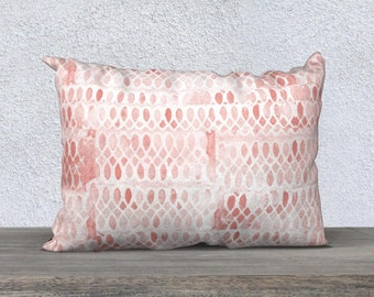 "Blush Throw Pillow, Blush Pillow Cover, Lumbar Pillow, 14"" x 20"", Blush Pillow, Blush Decor, Blush Bedroom, Blush Bedding, Blush Cushion"