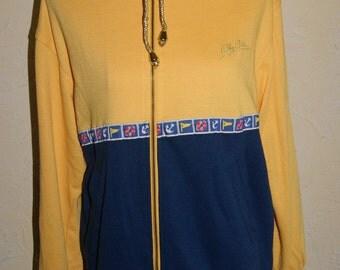 Vintage Ladies 1970s Oleg Cassini Sports Jacket With Nautical Theme Size Small