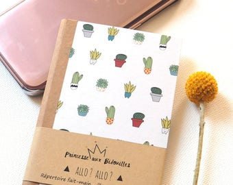 Address phone book, Telephone book. Illustration Princesse aux bidouilles . Botanical, cactus, succulents..