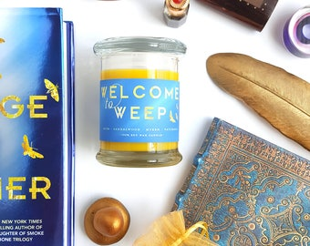 Welcome to Weep // Strange the Dreamer 8oz Jar Candle — Scented Soy Candle