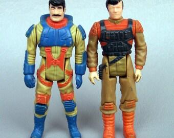 Vintage M.A.S.K. Bruce Sato and Julio Lopez Figures