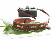 THE INCAN TRIBE    Leather Camera Strap, Brown Leather Strap, Toronto Camera Strap,