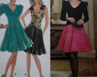 Simplicity 8130 /Princess Seamed Dress Sewing Pattern /Flared Skirt / UNCUT