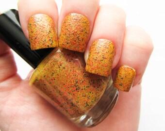 Sun Spots ~ Nail Polish // Glitter Nail Polish // Glitter // Red // Yellow // Indie Polish // Vegan Friendly // Nail Polish