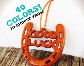 Good Luck Graduation Gift / Going Away Gift For Him or Her / New Job House Moving / Rustic Horse Lover Horseshoe Decor / College High School