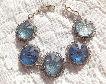 Blue Sparkle Bracelet, Multi Blue, Sky Blue, Baby Blue, Mother's Day, Bridal, Birthday, Co worker, Teacher, Friend, Gift Box Included, OB100