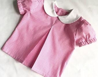 Girls gingham blouse