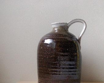 jug, pitcher, studio pottery, rustic