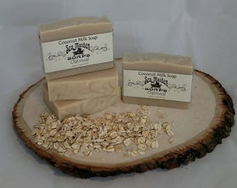 Hand Crafted OATMEAL Coconut Milk Soap