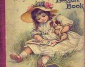Antique Reading Book Illustration Digital Image Download Printable Lesson Book