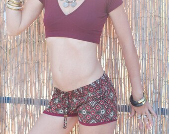 SASI Mini shorts, summer shorts, hot pants, printed shorts, short shorts, yoga shorts.