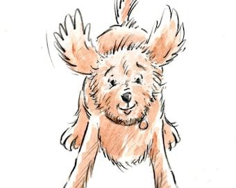 Toby Pounces - Original Drawing