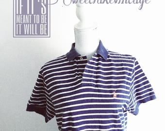 Polo blue striped- polo by Ralph Lauren