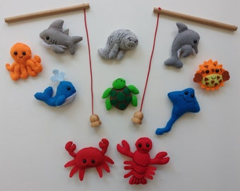 Fishing set and under the sea fridge magnets/ magnet board