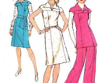 Simplicity 6232 Misses' Retro 1970s Dress, Jumper, Top and Pants Sewing Pattern