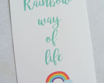 "Card ""Rainbow way of life"""