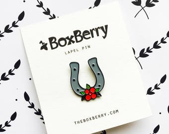 Lucky Horseshoe Enamel Pin
