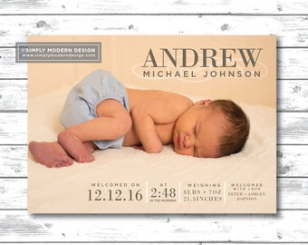 birth announcement, stripes, newborn, gender neutral, baby boy, baby girl, new baby, birth, card, invitation, PRINTABLE or PRINTED CARDS
