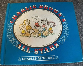 Vintage CHARLIE BROWN All-Stars Hardback Book 1966 First Edition PEANUTS Schulz