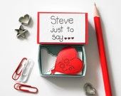 Personalized Valentine's day card, Cute Valentine's Day Card, Special Anniversary Card, I love you balloon card, Unique Valentine's gift