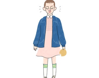 Eleven Print - Hand-Illustrated