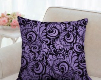 Purple and Black Accent Pillow