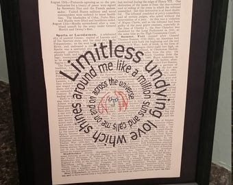 Across the Universe: Beatles Antique Dictionary Art (Limitless Undying Love)