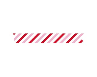 Red & Pink Striped Washi Tape - Sweet Nothings Collection - Fancy Pants - Planner Washi Tape - Scrapbooking - Gift Wrapping - 375852