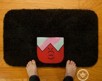"Steven Universe ""Garnet"" Inspired - Embroidered Bath Mat or Rug"