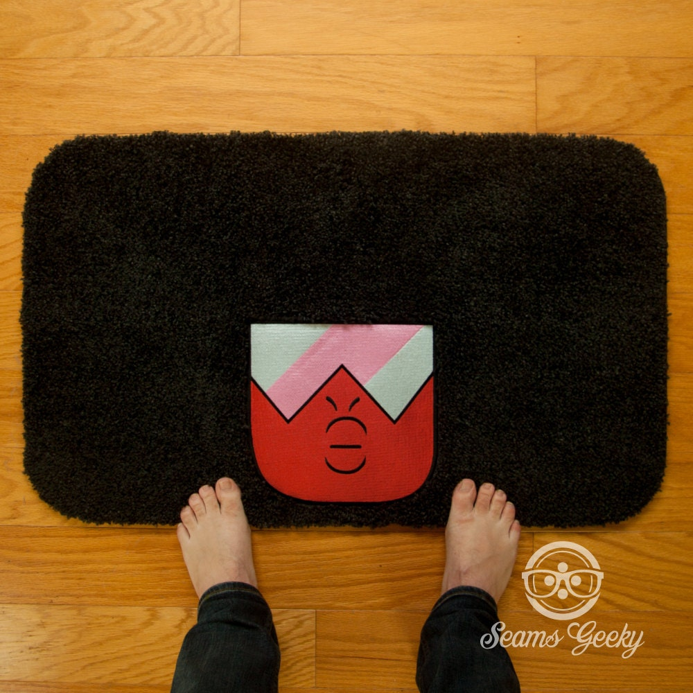 steven universe bath mat or rug garnet embroidered geeky