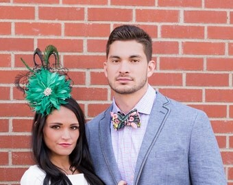 Kentucky Oaks Hat Fascinator and Eric Goff Bowtie Collection